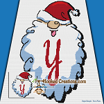 HoHoHo Alphabet-Y SC (Single Crochet) Baby Blanket Graphghan Crochet Pattern - PDF Download