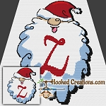 HoHoHo Alphabet-Z SC (Single Crochet) Baby Blanket Graphghan Crochet Pattern