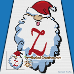 HoHoHo Alphabet-Z SC (Single Crochet) Baby Blanket Graphghan Crochet Pattern - PDF Download