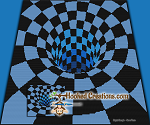 There's A Hole In My Bed - Blue - SC (Single Crochet) Throw Blanket Graphghan Crochet Pattern - PDF Download