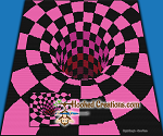 There's A Hole In My Bed - Pink - SC (Single Crochet) Throw Blanket Graphghan Crochet Pattern - PDF Download