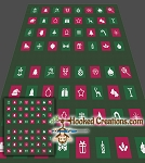 Holiday Icons SC (Single Crochet) Queen Blanket Graphghan Crochet Pattern - PDF Download