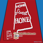 Home Sweet Home Alabama SC (Single Crochet) Throw Blanket Graphghan Crochet Pattern - PDF Download