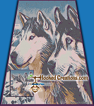 Husky Wonderland SC (Single Crochet) Full Size Blanket Graphghan Crochet Pattern - PDF Download