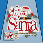 I Believe in Santa TSS (Tunisian Simple Stitch) Left Handed Throw Blanket Graphghan Crochet Pattern - PDF Download