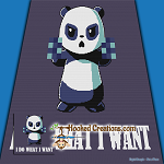 I DO WHAT I WANT SC (Single Crochet) Throw Blanket Graphghan Crochet Pattern - PDF Download