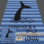 I'd Rather Be a Mermaid Mini C2C (Modified Corner to Corner) Throw Blanket Graphghan Crochet Pattern