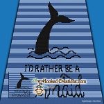 I'd Rather Be a Mermaid Mini C2C (Modified Corner to Corner) Throw Blanket Graphghan Crochet Pattern - PDF Download