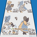 In the Meadow Mini C2C (Modified Corner to Corner) Throw Blanket Graphghan Crochet Pattern - PDF Download