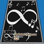Infinity Music SC (Single Crochet) Throw Blanket Graphghan Crochet Pattern - PDF Download