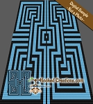 Inside Out C2C (Corner to Corner) Throw Blanket Graphghan Crochet Pattern - PDF Download