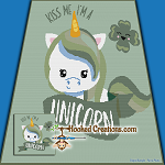 Irish Unicorn SC (Single Crochet) Throw Size Blanket Graphghan Crochet Pattern - PDF Download