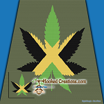Jamaican Weed SC (Single Crochet) Throw Sized Blanket Graphghan Crochet Pattern - PDF Download
