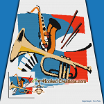 Jazz Band SC (Single Crochet) Throw Blanket Graphghan Crochet Pattern - PDF Download