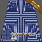 Journey to the Heart C2C (Corner to Corner) Throw Blanket Graphghan Crochet Pattern - PDF Download