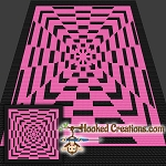 Kaleidoscope Mini C2C (Modified Corner to Corner) Throw Blanket Graphghan Crochet Pattern