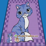 Kuddle Kitty SC (Single Crochet) Throw Blanket Graphghan Crochet Pattern - PDF Download