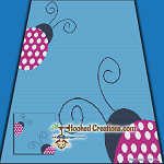 Ladybug Lane SC (Single Crochet) Throw Blanket Graphghan Crochet Pattern - PDF Download