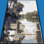 Lake Side Dock SC (Single Crochet) Throw Blanket Graphghan Crochet Pattern - PDF Download