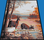 Lake Side SC (Single Crochet) King Blanket Graphghan Crochet Pattern - PDF Download