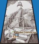 Lighthouse in the Sky SC (Single Crochet) Full Size Blanket Graphghan Crochet Pattern - PDF Download