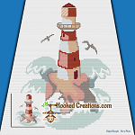 Lighthouse Mini C2C (Modified Corner to Corner) Throw Blanket Graphghan Crochet Pattern - PDF Download