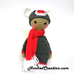 Lil Sock Monkey Crochet Pattern - Amigurumi - PDF Download