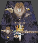 Lion & Sword SC (Single Crochet) Full Size Blanket Graphghan Crochet Pattern - PDF Download