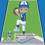 Little Baseball Star SC (Single Crochet) Throw Blanket Graphghan Crochet Pattern - PDF Download