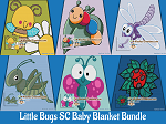 Little Bugs SC (Single Crochet) Baby Blanket Bundle Graphghan Crochet Patterns - PDF Download
