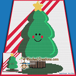 Little Holiday Tree SC (Single Crochet) Baby Blanket Graphghan Crochet Pattern - PDF Download