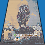 Little Hoot SC (Single Crochet) Throw Blanket Graphghan Crochet Pattern - PDF Download