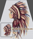Little Indian Chief SC (Single Crochet) Throw Blanket Graphghan Crochet Pattern - PDF Download