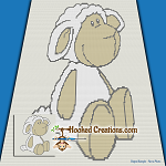 Little Lamb SC (Single Crochet) Baby Blanket Graphghan Crochet Pattern - PDF Download