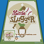 Little Slugger SC (Single Crochet) Baby Blanket Graphghan Crochet Pattern - PDF Download