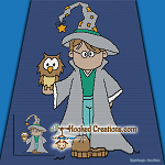 Little Wizard SC (Single Crochet) Throw Size Blanket Graphghan Crochet Pattern - PDF Download