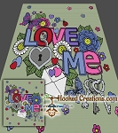 Love Me SC (Single Crochet) Full Sized Blanket Crochet Pattern