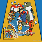 MARIO WORLD SC (Single Crochet) Throw Blanket Graphghan Crochet Pattern - PDF Download