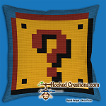 MARIO WORLD SC (Single Crochet) Throw Pillow Graphghan Crochet Pattern - PDF Download