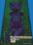 Meditating Dragon SC (Single Crochet) Twin Sized Blanket Graphghan Crochet Pattern - PDF Download