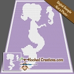 Mermaid Friends C2C (Corner to Corner) Throw Blanket Graphghan Crochet Pattern