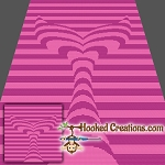 Mermaid Tail Illusion SC (Single Crochet) Throw Blanket Graphghan Crochet Pattern - PDF Download