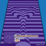 Mermaid Tail Illusion Mini C2C (Modified Corner to Corner) Throw Blanket Graphghan Crochet Pattern - PDF Download