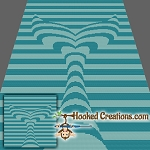Mermaid Tail TSS (Tunisian Simple Stitch)-Left Handed Throw Blanket Graphghan Crochet Pattern - PDF Download