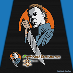 Michael Myers SC (Single Crochet) Throw Blanket Graphghan Crochet Pattern - PDF Download