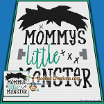 Mommys Little Monster SC (Single Crochet) Baby Sized Blanket Graphghan Crochet Pattern - PDF Download