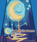 Moonlight Drips SC (Single Crochet) Full Size Blanket Graphghan Crochet Pattern - PDF Download