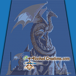 Mountain Top Dragon SC (Single Crochet) Throw Blanket Graphghan Crochet Pattern - PDF Download