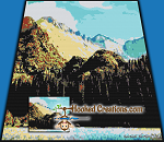 Mountains SC (Single Crochet) Throw Size Blanket Graphghan Crochet Pattern - PDF Download