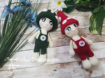 Mushroom Dolls Crochet Pattern - Amigurumi - PDF Download